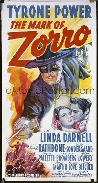 MARK OF ZORRO ('40) linen 3sh
