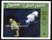 v047d CREATURE FROM THE BLACK LAGOON  LC #4 '54 he's shot!