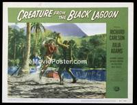 v047e CREATURE FROM THE BLACK LAGOON  LC #7 '54 on land!