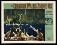 v053c CREATURE WALKS AMONG US  LC #2 '56 he's on the boat!