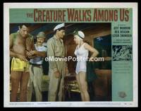 v053g CREATURE WALKS AMONG US  LC #3 '56 sexy scuba girl!