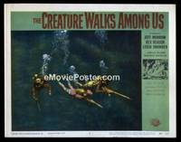 v053h CREATURE WALKS AMONG US  LC #6 '56 3 scuba divers!