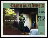 v053d CREATURE WALKS AMONG US  LC #7 '56 he's really mad!