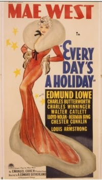 EVERY DAY'S A HOLIDAY ('37) linen 3sh