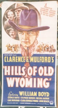 HILLS OF OLD WYOMING linen 3sh
