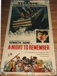 NIGHT TO REMEMBER ('58) linen English 3sh