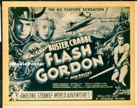 VHP7 080 FLASH GORDON title lobby card '36 big feature sensation!