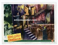 #045 ABBOTT & COSTELLO MEET FRANKENSTEIN lobby card #3 '48 neat!!