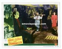 #044 ABBOTT & COSTELLO MEET FRANKENSTEIN lobby card #7 '48 Lugosi!