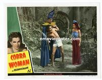 #118b COBRA WOMAN #2 lobby card '44 Sabu, Maria Montez, Lon Chaney!