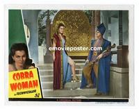 #118e COBRA WOMAN #5 lobby card '44 Maria Montez in sexy outfit!!