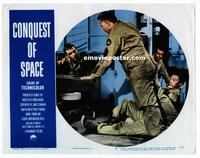 #308 CONQUEST OF SPACE lobby card #5 '55 in the crowded ship!!