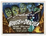 #031 HOUSE OF DRACULA title lobby card '45 Lon Chaney, Glenn Strange!