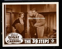 #216a 39 STEPS #2 lobby card R38 Alfred Hitchcock, the 'lovers'!!