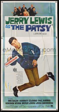 1089FF PATSY 3sh '64 wacky image of Jerry Lewis star & director hanging from strings like a puppet!