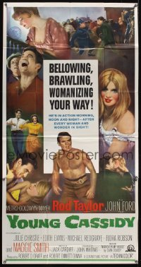 1094FF YOUNG CASSIDY 3sh '65 John Ford, bellowing, brawling, womanizing Rod Taylor!