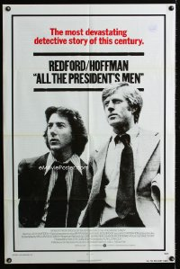 0659FF ALL THE PRESIDENT'S MEN int'l 1sh '76 Dustin Hoffman & Robert Redford as Woodward & Bernstein
