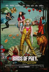 2681UF BIRDS OF PREY advance DS 1sh 2020 Margot Robbie as Harley Quinn, great surreal artwork!
