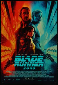 2671UF BLADE RUNNER 2049 advance DS 1sh 2017 great montage image with Harrison Ford & Ryan Gosling!