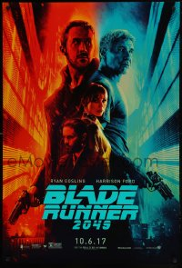 2670UF BLADE RUNNER 2049 teaser DS 1sh 2017 great montage image with Harrison Ford & Ryan Gosling!