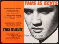 1187FF THIS IS ELVIS British quad '81 Elvis Presley rock 'n' roll biography, portrait of The King!