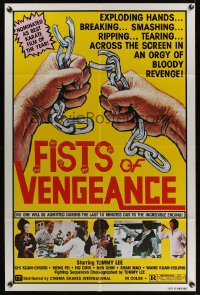 0896FF BRUCE'S FISTS OF VENGEANCE 1sh '84 exploding hands in an orgy of bloody revenge!