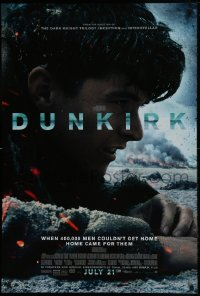 2661UF DUNKIRK advance DS 1sh 2017 Christopher Nolan, Tom Hardy, Murphy, different close-up!