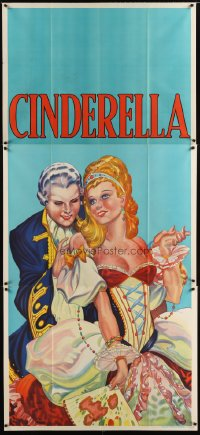1505TF CINDERELLA stage play English 3sh '30s beautiful stone litho close up art!