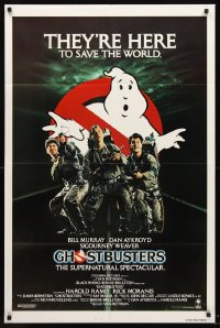1218FF GHOSTBUSTERS int'l 1sh '84 Bill Murray, Aykroyd & Harold Ramis are here to save the world!