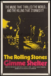 0169TF GIMME SHELTER int'l 1sh '71 Rolling Stones, out of control rock & roll concert!