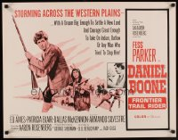 0537UF DANIEL BOONE FRONTIER TRAIL RIDER 1/2sh '66 pioneer Fess Parker in coonskin hat!