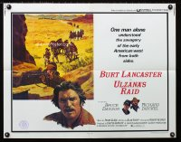 0635FF ULZANA'S RAID 1/2sh '72 artwork of Burt Lancaster by Don Stivers, Robert Aldrich