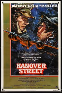 1219FF HANOVER STREET 1sh '79 cool art of Harrison Ford & Lesley-Anne Down in World War II by Alvin!