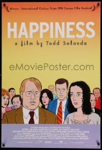 2150UF HAPPINESS 1sh '98 Todd Solondz black comedy, art of Philip Seymour Hoffman & cast!