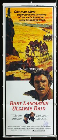 0652FF ULZANA'S RAID insert '72 artwork of Burt Lancaster by Don Stivers, Robert Aldrich