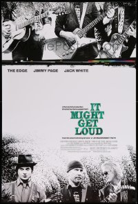 2196UF IT MIGHT GET LOUD 1sh '08 guitarist greats Jimmy Page, The Edge & Jack White, rock 'n' roll!