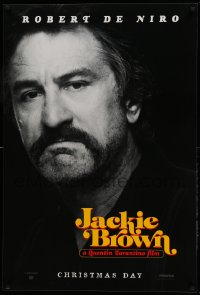 2199UF JACKIE BROWN teaser 1sh '97 Quentin Tarantino, great close portrait of Robert De Niro!