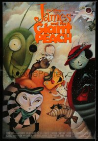 2200UF JAMES & THE GIANT PEACH DS 1sh '96 Walt Disney, Roald Dahl, wonderful Lane Smith artwork!