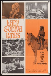 0522FF LADY GODIVA RIDES 1sh '69 sexy Marsha Jordan, love and lust on two continents!