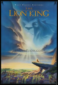 1594UF LION KING DS 1sh '94 classic Disney in Africa, cool image of Mufasa in sky!