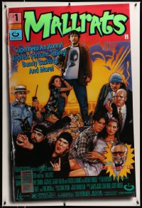 2248UF MALLRATS DS 1sh '95 Kevin Smith, Jason Lee, Jay & Silent Bob, Drew Struzan comic book art!
