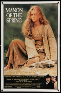 2250UF MANON OF THE SPRING 1sh '87 directed by Claude Berri, close up of pretty Emmanuelle Beart!