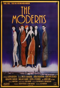 2266UF MODERNS 1sh '88 Alan Rudolph, cool artwork of trendy 1920's people by star Keith Carradine!