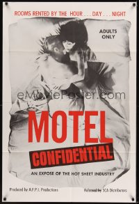 0524TF MOTEL CONFIDENTIAL 1sh '67 the hot sheet industry, rooms by the hour, day, or night!