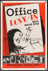 0526FF OFFICE LOVE-IN 1sh '68 Carole Saunders, Ray Cyr, white collar style sexploitation!