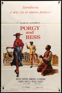 2303TF PORGY & BESS 1sh '59 art of Sidney Poitier, Dorothy Dandridge & Sammy Davis Jr.!