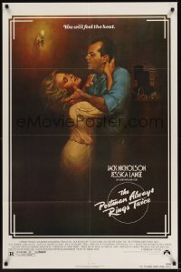 0322FF POSTMAN ALWAYS RINGS TWICE 1sh '81 art of Jack Nicholson & Jessica Lange by Renato Casaro!