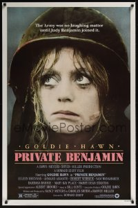 0325UF PRIVATE BENJAMIN 1sh '81 funny image of depressed military Goldie Hawn!