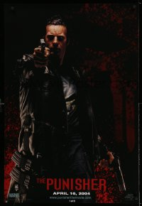 2311UF PUNISHER teaser 1sh '04 Thomas Jane as the Marvel Comics superhero pointing gun!