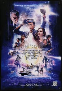 2672UF READY PLAYER ONE March 29th advance DS 1sh 2018 Paul Shipper montage art of stars, Spielberg!
